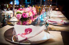 Detalhe da mesa de convidados | Mesa | Decoração | Decor | Decoração Rosa | Pink decoration | Wedding Table | Casamento | Wedding