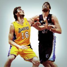 A talented pair of 7 footer brothers - Los Angeles Lakers' Pau Gasol & Memphis Grizzlies' Marc Gasol