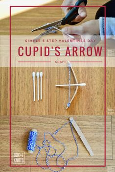 """Our latest craft was as """"boyish"""" as we could think of for a very girly Valentines day. All the supplies can be found in your home or the dollar store and provides hours of play. Try our simple Valentines Day craft that every cupid loves to play with in 5 easy to follow steps."""