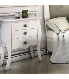 Comprar online Mesita de noche de madera colección NICE Dresser As Nightstand, Table, Furniture, Ideas, Home Decor, Wood Head Boards, Bedside Tables, Home Decorations, Drawers