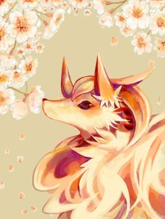 Ninetails Smelling Flowers