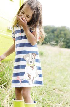Mini Boden Fun Appliqué Polo Dress (Toddler, Little Girls & Big Girls) | Nordstrom