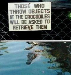 Who knew zoos could be such funny places? Check out these strange but funny signs spotted at zoos around the world.