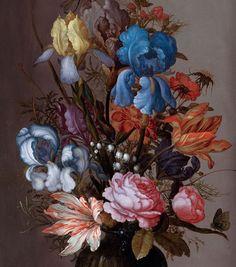 Balthasar van der Ast · Nature morte aux tulipes, roses, iris... http://casaprints.com/fr/99-balthasar-van-der-ast
