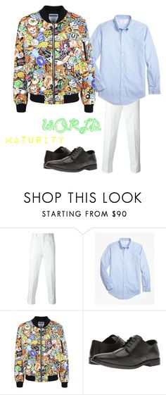 """""""Maturity"""" by shimanec-kristina ❤ liked on Polyvore featuring Neil Barrett, Brooks Brothers, Moschino, Steve Madden, men's fashion and menswear"""