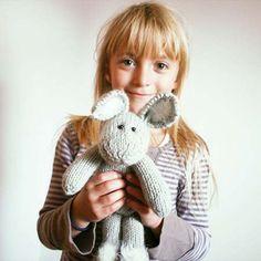 Stuffed cotton bunny Valentino d'Lamour -  playfull light gray and white plush bunny toy. $98.00, via Etsy.