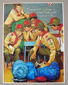 Vintage 1981 Joseph Csatari The Patrol Leader Boy Scouts Of America Print MINT