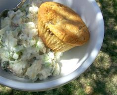 Almond muffin and potato salad - The Spunky Coconut