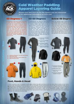 The latest from the ACK Blog, a Cold Weather Paddling Apparel Layering Guide.