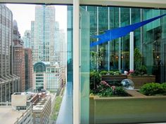 gorgeous view from the crown sky garden of the incredible new #chicago lurie children's hospital.