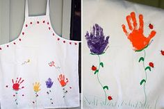 Handprint Flower Apron for Mother's Day gift