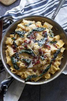 Creamy Butternut Rigatoni with Pancetta and Brown Butter Fried Sage