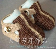 Booties, sandals with buckle crochet, knitting details on foto/4683827_20120614_005644 (497x344, 44Kb) / 4683827_20120720_211827 (470x408, 1 ...