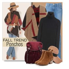 """Fall Trend:  Ponchos"" by brendariley-1 ❤ liked on Polyvore featuring Frame Denim, Burberry, Erdem, Reiss and M Z Wallace"