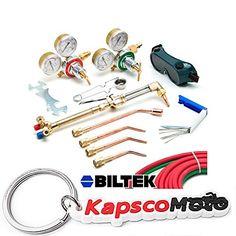 Biltek Victor-Style Oxygen Acetylene Welding Cutting Kit Precision Brazing Soldering   KapscoMoto Keychain
