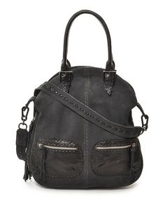 Take a look at this Black Buffalo Fold-Over Tote by Carla Mancini on #zulily today!