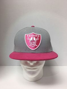 the latest 78067 de847 Oakland Raiders New Era 5950 Fitted Pink Breast Cancer Hat 7 5 8 NFL