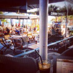 Coffee and web surfing on a beautiful beach.#smellslikesummer#beach