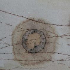 paper, tea, rust print, collagraph print by Alice Fox