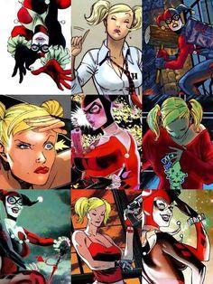 Many faces of Harley Quinn Dc World fa2ba5a1021a5