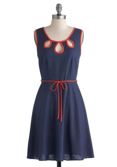 Offering Energy Dress in Navy   Mod Retro Vintage Dresses   ModCloth.com