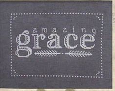 cross stitch patterns : Amazing Grace Brenda Riddle Designs monochromatic wedding home decor baby nursery counted hand embroidery
