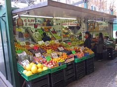 Streetside Container Market Stalls Market Stalls, Bologna, Italy, Vegetables, Food, Italia, Market Stands, Essen, Vegetable Recipes