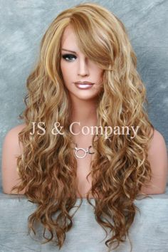 Luscious+Long+Lace+Front+Wig+HEAT+SAFE+Blonde+Tangerine+mix+Wavy+WOP+2216+#FullWig