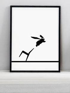 Superhero Rabbit Screen Print - HAM #elds #coolprints #eastlondondesignstore www.eastlondondesignstore.com