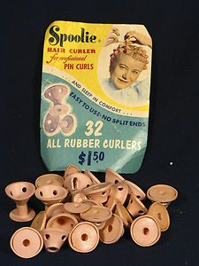 Pink Rubber Hair Curlers, Spoolies - the 'professional' way to do pin curls. Most of us just used our fingers and bobby pins! My Childhood Memories, Best Memories, Pin Curls, Oldies But Goodies, I Remember When, Good Ole, Vintage Ads, Vintage Stuff, Vintage Advertisements