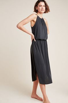 Cupro Midi Dress | Anthropologie