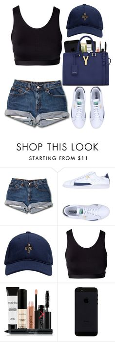 """""""Untitled #448"""" by pinkymimi ❤ liked on Polyvore featuring Puma, October's Very Own, Stay In Place, Smashbox, Yves Saint Laurent, women's clothing, women, female, woman and misses"""