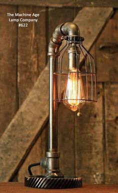 Steampunk Industrial Gear Desk Lamp, #622