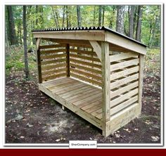 Amazing Shed Plans - How To Build A Firewood Storage Shed - Now You Can Build ANY Shed In A Weekend Even If You've Zero Woodworking Experience! Start building amazing sheds the easier way with a collection of shed plans! Diy Storage Shed Plans, Wood Storage Sheds, Wood Shed Plans, Wooden Sheds, Storage Ideas, Storage Rack, Garage Plans, Barn Plans, Kayak Storage