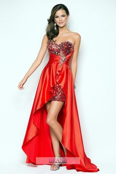 Prom Dresses 2013 Sweetheart High Low Elastic Satin Sequinces