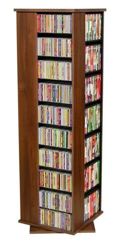 See additional information on the Venture Horizon 612 CD Revolving Media Tower (Various Finishes) 2385 below. Dvd Storage Rack, Dvd Rack, Storage Shelves, Storage Ideas, Shelving, Media Storage Tower, Walnut Finish, Multimedia, It Is Finished