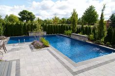Pool Landscaping Ideas a Minimalist Swimming Pool on a Tiny Page? Check out ! Surely it would be very nice to have a swimming pool at home. Backyard Pool Landscaping, Backyard Pool Designs, Swimming Pools Backyard, Swimming Pool Designs, Landscaping Ideas, Lap Pools, Indoor Pools, Landscaping Software, Backyard With Pool