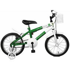 829896273 Bicicleta Master Bike Aro 16 feminina Girl da Chape Verde e Branco