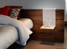 Letto Air Lago con testiera Wildwood con piedini in vetro e mensole/comodini in tessuto, spostabili per materasso da 160 cm escluso