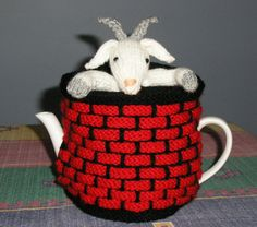 Goat in a Well Free Knitted Tea Cozy