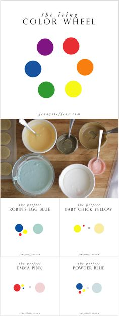 Recipes + tips for Mixing Pretty Royal Icing Colors | The Icing Color Wheel