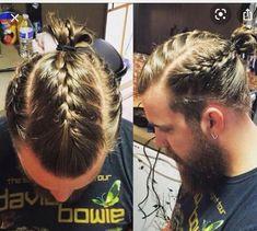 Mens Braids Hairstyles, Cool Hairstyles, Hair And Beard Styles, Curly Hair Styles, Viking Haircut, Viking Braids, Stylish Haircuts, Braids For Short Hair, Hair Cuts