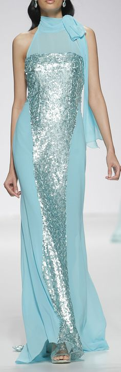 Ana Torres Bridal S/S 2015 Fashion and Designer Style Beautiful Gowns, Beautiful Outfits, Runway Fashion, High Fashion, Mint, Turquoise, Teal, Look At You, Dream Dress