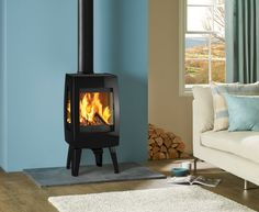 The Sense 113 is wonderful addition to the growing collection of contemporary cast iron wood burning stoves from Dovre.