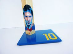 Messi 10. Unique handcrafted handpainted by QrtosCreations