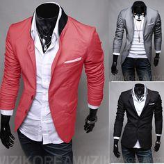 Veste Homme Hot Sale 2016 Cotton Polyester Full New Fashion Style Blazer Men Slim Top Design Suit Korean Coats,wholesale&retail Casual Suit, Men Casual, Stylish Men, Smart Casual, Style Blazer, Cheap Suits For Men, Slim Fit Suits, Blazers For Men, Cool Suits