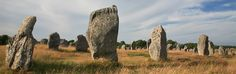 The standing stones of Carnac are one of Brittany's greatest attractions.  Easy to visit with all the family from our Camping Le Moustoir campsite.