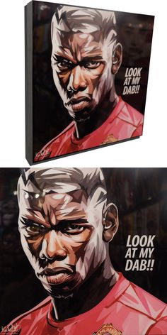 """Paul Pogba Poster Plaque with Quote """"Look at my Dab! Paul Labile Pogba, World Cup Draw, Uefa Football, Silly Quotes, Look At Me, Manchester United, Black Backgrounds, Pop Culture, The Unit"""