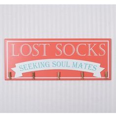 Lost Socks Sign Wall Décor