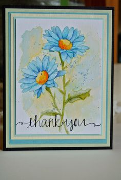 H8924 Daisies, Impression Obsession, Avery Elle- Oh Happy Day set, no-line watercolor, Mama Elephan, Stamp Tart